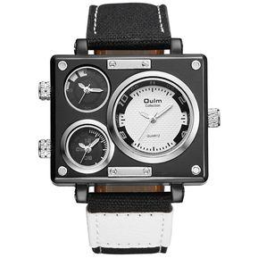 f3f82522bc8c Reloj De Cuarzo Para Hombre Reloj Deportivo De Lona Deporte Relojes De  Pulsera Oulm 3595-
