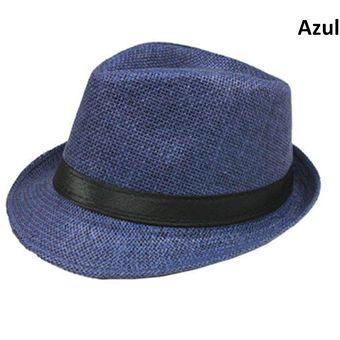 Compra Sombrero Fedora Tipo Gardel Playa Sol Talla Única Azul online ... e98bf901054