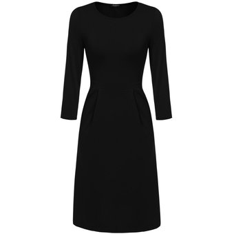 Vestido negro manga 3 cuartos