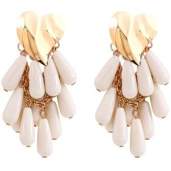 ac9fe3c9f3c4 Compra EY Moda chicas joyas aretes estilo versátil-Blanco online ...