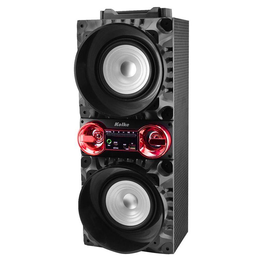 Parlante Portátil Kolke Bluetooth Blow Negro Y Rojo 60W KPB-221