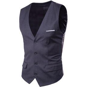 Chaleco Casual Fashion-Cool Para Hombre-Gris oscuro f1ec1eca2f5