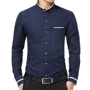 ede1a660a Camisa Hombre Diseño Lineas - Azul