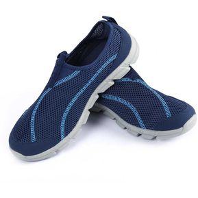 0a8ffc738a59b Verano De Los Hombres De Malla Transpirable Ligero Estupendo De Los Zapatos  Corrientes De Las Zapatillas