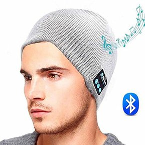 Gorro De Lana De Unisex Como Audifonos De Bluetooth E-Thinker - Gris 49f7a784e3fc