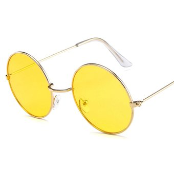 Gafas de sol estilo aviador retro vintage polarizadas UV400 con montura  metálica media 1e6ef37a4d