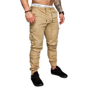 casual Multi-bolsillo Harén Pantalones Joggers para hombres 18bf193396e5