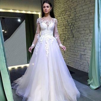 Ver A Través Del Vestido De Novia Elegante Vestido De Gasa
