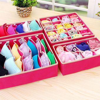 nikgic almacenamiento caja calcetines ropa interior caj/ón organizadores pl/ástico almacenamiento de partici/ón separador cintur/ón 3pcs