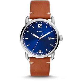 e31bdc05542f Agotado Fossil - Reloj FS5325 The Commuter Three-Hand Date Luggage Leather Para  Hombre