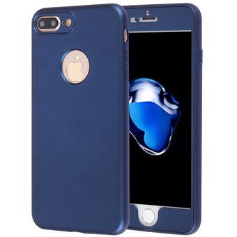 69dc7e776bf Para IPhone 8 Plus Y 7 Plus 360 Grados La Plena Protección Suave TPU  Cubierta Trasera