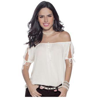 171c3d2c9ce33 Compra Blusa Juvenil Para Mujer Marketing Personal 62049 Marfil ...