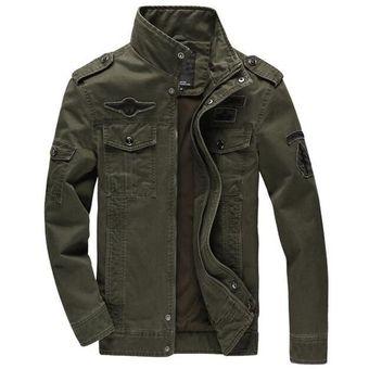 cb1f1b91b Plus 6XL Men Plus Chaqueta De Cachemira Jean Soldado Militar Soldado  Algodón Fuerza Aérea Un Hombre Primavera / Otoño / Invierno Chaquetas Para  ...