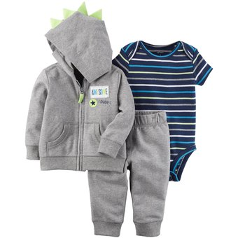 ab923b5b3 Compra Conjunto 3 Piezas Carter s De Algodón Para Bebé Niño - Gris ...