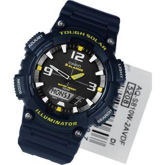 a9412d4851ac Compra Reloj Casio AQ-S810W-2A Para Caballero En Resina Azul Con ...