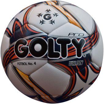 Compra Balón Fútbol  4 Dualtech Golty - Blanco Rojo Amarillo online ... c7c972b2f0ba5