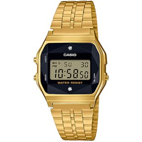 fa9991a6a193 Reloj Casio Vintage Iluminador A159WGED-1 Digital Unisex - Dorado y Negro