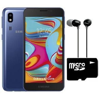 Celular Samsung Galaxy A2 Core 16GB + 1GB RAM + Audífonos MicroSD 64GB