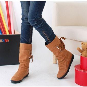 amplia selección comprar popular siempre popular Señoras Calientes Del Invierno Botas Elegantes Botas De Moda Nueva-marrón