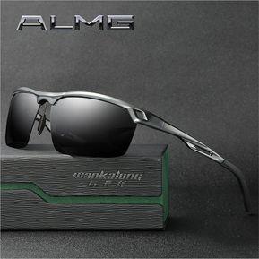 f50c190375 Gafas de sol aluminio magnesio ALMG gafas de conducción--Negro