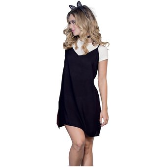 880240be78a8 Vestido Juvenil Femenino Marketing Personal 34250 Negro/Marfil