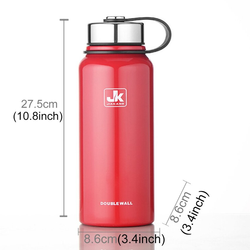 1100ML Exterior De Acero Inoxidable Taza De Vacío De Gran Capacidad De Aislamiento De Calor Portatil (rojo) SU015HL1M1K2ELMX SQo3iQKO SQo3iQKO yQMlvXfp