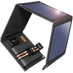 d9611920c Cargador Solar Portatil Suaoki Plegable 14w 4 Panel 1usb