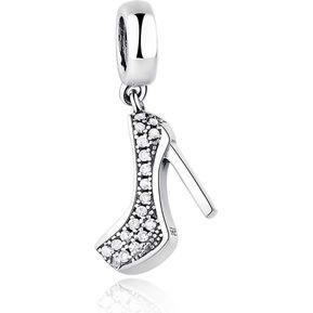 01f47648e482 Charm Zapato Mujer Taco Plata Fina 925 Estilo Pandora