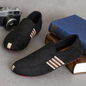 6630b0adb Mocasines para Hombre Zapatos planos Casual Canvas Sapatos Loafers Hombre