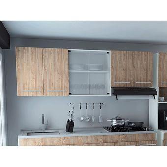Mueble De Cocina Superior 1.80 Metros 6 Puertas, Bari Rta