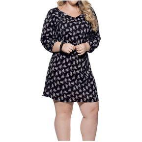 7e93c43b5 Vestido Adulto Femenino Marketing Personal 93342 Negro Estampado