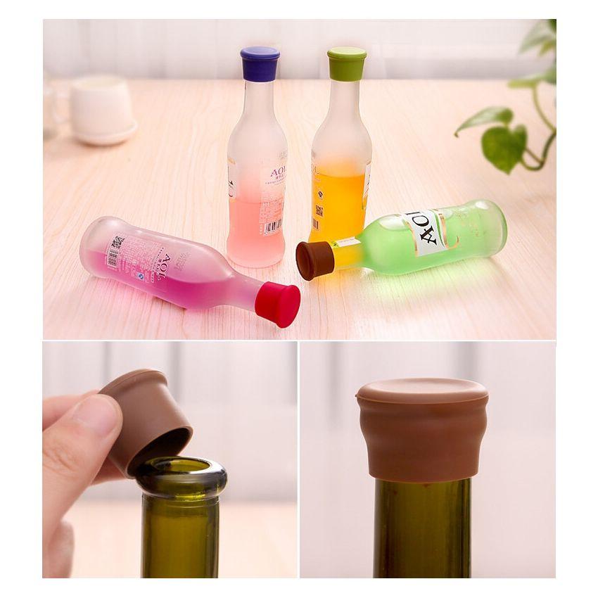 10 PCS Color Caramelo De Silicona Vino Cerveza Condimentos Tapon De Botella Color Al Azar Entrega SU015HL1MIAGILMX s4IrsYGu s4IrsYGu ULs21igH