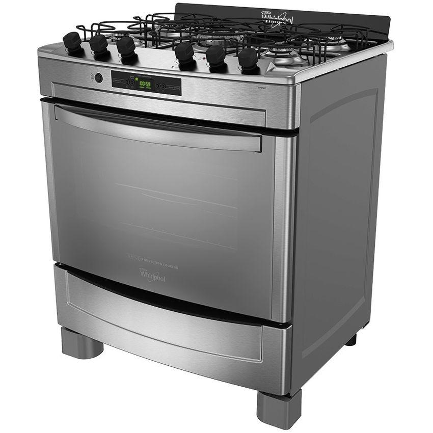 Cocina Whirlpool Wf-876xg 5 Hornillas-Gris
