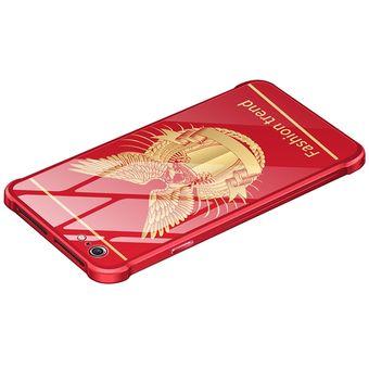 e83e51ee632 Compra Funda De Metálico Vidrio Para IPhone 6s Plus/ 6 Plus-Rojo ...
