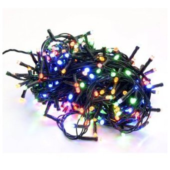 30059c47f24 Compra Extension De 100 Luces LED Navidad Cable Verde Multicolor ...