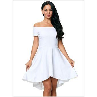 Vestido Elegante Para Fiestas Generico Para Mujer Blanco