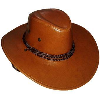 Agotado Sombrero Vaquero con cordon Disfraz Halloween Ferias Color Camel e7e9ae86219