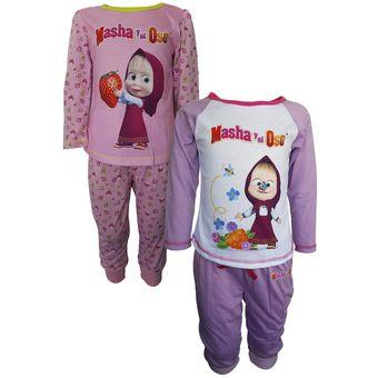 4c5a8e182e Pack 2 Pijamas Manga Corta Niña Masha Y El Oso