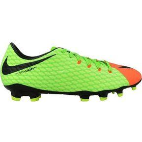 7cdedd5893510 Zapatos Fútbol Hombre Nike HypervenomX Phelon III FG -Verde Con Naranja