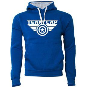 0087eb4b3ed75 MDC Polerón de Hombre cerrado con capucha Team Cap Capitán América Azul Rey