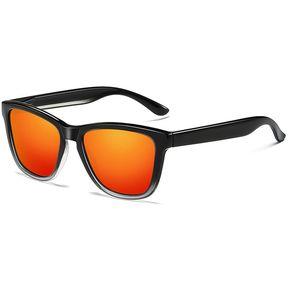 a1f0784c16 Unisex Moda Retro Marco Plastico UV400 Gafas De Sol Polarizadas (degradado  Negro + Rojo)