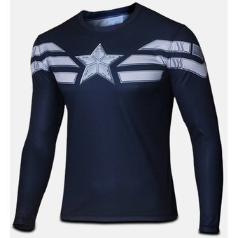 Agotado Hombres Camiseta De Manga Larga Superman   Batman   Spiderman Y  Capitán América   Hulk   19283018320c6