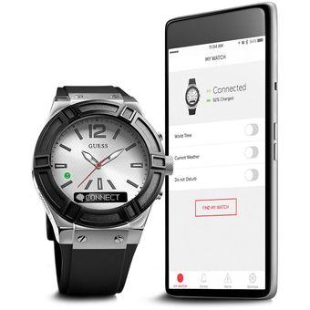 719bdd1ab Compra Reloj Guess Connect Hombre - Hybrid Smartwatch - Plata/Negro ...