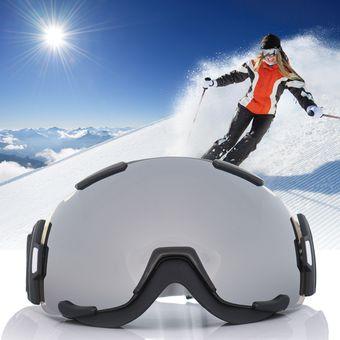 f348b463661 Agotado Gafas Esquí Snowboard Anti-Niebla Espejo Lente Esférico Goggles Ski  Deporte Snow