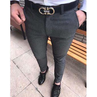 Pantalones Formales De Negocios A La Moda Para Hombre Pantalones Elasticos Rectos Elegantes Para Oficina Ajustados Solidos Ajustados Pantalones De Primavera Y Otono Gris Oscuro Linio Colombia Ge063fa0qn615lco