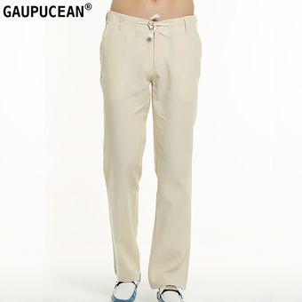 d69c38580ab Compra Pantalones Casual Algodón Lino Gaupucean Para Hombre-Caqui ...