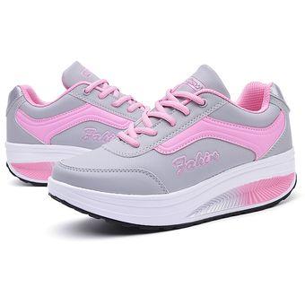 c98f9dfd Zapatos Deportivos De Plataforma Moda Adelgazar Zapatillas Para Mujer