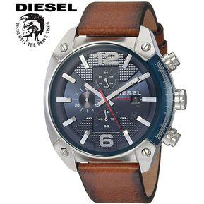 3540d88b755b Reloj Diesel Overflow DZ4400 Cronometro Acero Inox Correa De Cuero - Marrón
