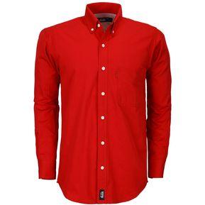 37dc53e1fb Camisa Caballero Manga Larga Polycotton Hombre Uniforme Empresarial  Ejecutivo Oficina Color-Rojo
