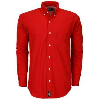 Camisa Caballero Manga Larga Polycotton Hombre Uniforme Empresarial  Ejecutivo Oficina Color-Rojo 2489f6bb9be1b